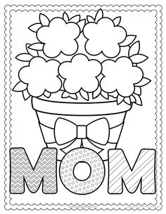 Free Mother's Day PrintablesCreate a fun keepsake for MOM this Mother's Day with these free printables. Coloring pages, keepsakes, handprint crafts and more! Mothers Day Coloring Sheets, Mothers Day Coloring Pages, Flower Coloring Pages, Coloring For Kids, Printable Coloring Pages, Coloring Pages For Kids, Coloring Books, Colouring, Mothers Day Poems