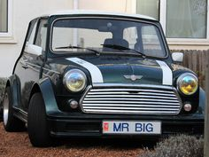LOVE the number plate on this Body Kitted W.A.W Rover Cooper! Just made me smile.