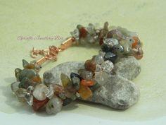Multi Colour Rutile Quartz Luxury Gemstone Kumihimo Braided Bracelet - pinned by pin4etsy.com