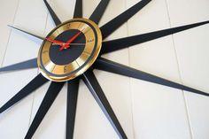 Vintage Welby Starburst Clock Eames Era Company by AtomicMartini Kitsch, Beige Walls, Eames, Etsy Store, Mid-century Modern, Art Deco, Mid Century, Wall Clocks, Wall Ideas