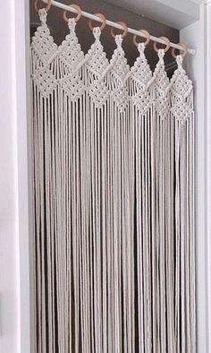 Macrame Wall Hanging Patterns, Macrame Plant Hangers, Macrame Patterns, Macrame Design, Macrame Art, Macrame Projects, Macrame Curtain, Macrame Tutorial, Handmade Home Decor