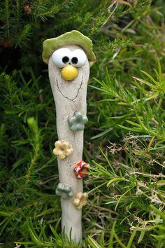 Pflanzen- & Gartenstecker - Blumenstecker mit Zipfel - ein Designerstück von ThoLiKo bei DaWanda