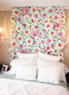 Beautiful Flower Wall Decor Ideas For Creative Wall Decor Ideas Beautiful Flower Wall Decor Ideas For Creative Wall Decor IdeasEveryone wants to have a unique and beautiful house even if it is possibl Decor, Creative Wall Decor, Wall Decor, Floral Headboard, Bedroom Wall, Creative Walls, Headboard Wall, Diy Flower Wall, Room Decor