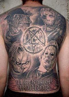 Horror movie tattoo designs