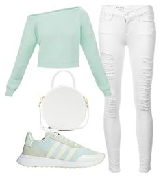 """Candyland"" by ambyclark on Polyvore featuring Frame, adidas Originals and Mansur Gavriel"