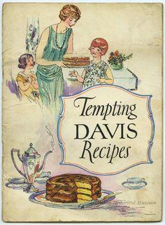 Tempting Davis Recipes cookbookBy The Davis Baking Powder Company 1925