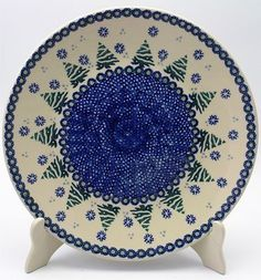 """10"""" Dinner Plate (Snowy Pines) from The Polish Pottery Outlet"""