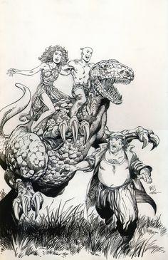 Barry Windsor-Smith: Archer & Armstrong #6 Cover Original Art