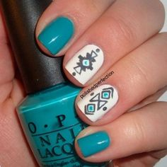 Cool Tribal Nail Art Ideas and Designs. Work to mark rites of passage, helped identify family members or work as a charm to ward off evil spirits. Wonderful for festive or special occasions. http://www.jexshop.com/