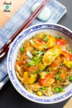 This Syn Free Instant Pot Sweet and Sour Chicken tastes so good you'd think it came from the takeaway! You can make it in any slow cooker as well as using either the Slow cook or Pressure function of the Instant Pot. Slimming Recipes, Skinny Recipes, Skinny Meals, Slow Cooker Recipes, Cooking Recipes, Ww Recipes, Free Recipes, Pinch Of Nom, Sweet Sour Chicken