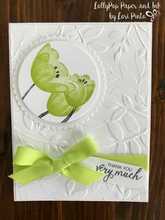 Stampinup!, Tranquil Tulips, Bunches of Blossoms, Layering Leaves Embossing Folder, Layering Circles Framelits Dies, by Lori Pinto