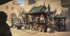 ArtStation - Chinese Vendor II, Leroy Steinmann