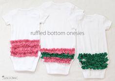Ruffled Bum onesies (tutorial)