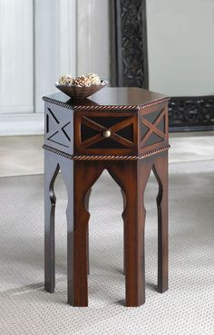 Wholesale Chic Exotic Living Room Or Bedroom Moroccan Accent Table With Pull-Out Drawer $83.87