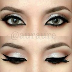 a nice silver look for green eyes :)