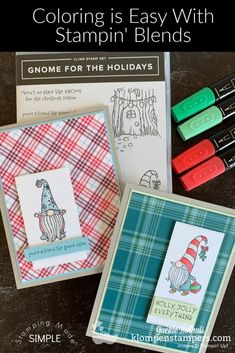 I only learned to love coloring when I got introduced to the best alcohol markers on the market-the Stampin' Blends. They make coloring and blending so easy. Let me show you how with these 4 cute DIY Christmas cards. The technique will apply to any paper craft project! Learn more at www.klompenstampers.com #alcoholmarkerstechniques #stampinblends #markercoloringtechniques #cardmaking #klompenstampers #jackiebolhuis