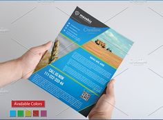 Agriculture Flyer Template by Zia Grfx on @creativemarket
