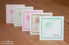 Dankeskarte Stampin Up Minicard Thank You Card Danke Karte 013