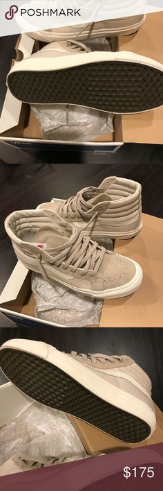 Vans sk8 hi feather. Brand new! Tested shoes in the house but it's a little big. Vans Shoes Athletic Shoes