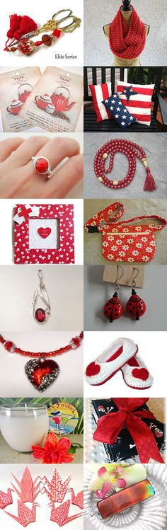 Red is Hot Hot and Hot. by Nancy on Etsy--Pinned with TreasuryPin.com Estyhandmade #giftideas #freshideas