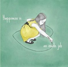 Happiness come from you, comes from inside. #OMagazineSA
