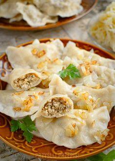 Pasta Recipes, Cooking Recipes, Healthy Recipes, Farmers Cheese, National Dish, Polish Recipes, Group Meals, Sauerkraut, Dumplings
