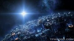 This is Planet Cybertron from the Transformers.  i really like the lighting composition in this image as well as the way you can almost see into the planets core which is something id like to work into my level design