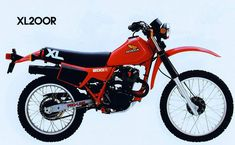Honda XL200R Honda Bikes, Honda Motorcycles, Enduro Motorcycle, Vintage Motocross, Cool Bikes, Motorbikes, Cool Designs, Scrambler, Vehicles