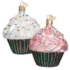 "Assorted Cupcake Christmas Ornament 32195 Merck Family's Old World Christmas Size: 3 3/4""   #trendyornaments #cupcakes"