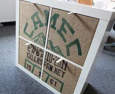 4 Fronten für Ikea Expedit Boxen - Kaffeesack!