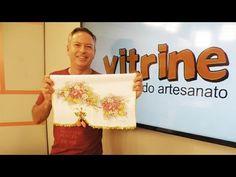 Pano de copa com rosas adesivadas com Luis Moreira | Vitrine do Artesana...