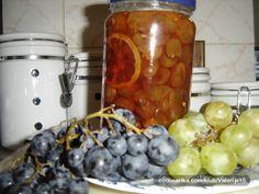 Dajem kolicinu od 1 kg ociscenog bjelog grozdja, a vi prilagodite vasim potrebama. Zima je duuuugaaa : -)). Sausage, Jar, Baking, Vegetables, Fruit, Food, Decor, Winter, Winter Time