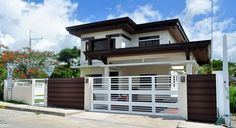 Luxury House Design - With 4 bedrooms, this house is residential with Asian Tropical Design concept. Tropical House Design, Small House Design, Modern House Design, 2 Storey House Design, Two Storey House, Modern Zen House, Modern Houses, Philippines House Design, Philippine Houses