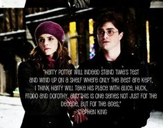 my favourite quote about harry potter by my favourite author