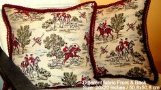 Hunting 20x20 pillow cover  Decorative velvet trim by SABDECO, €35.00