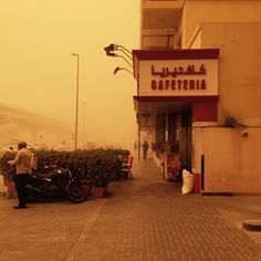The storm travelled east to Dubai after hitting Saudi Arabia hard Wednesday. | Surreal Photos Show Dubai Covered In Orange After A Major Sandstorm