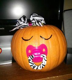 Zebra, Pink, And Orange Halloween Themed Baby Shower