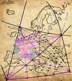 A Map Of Englands Ley Lines And A Key Of Sacred Sites That