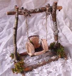 Fairy Garden Porch Swing.