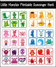 Little Monster Party Games