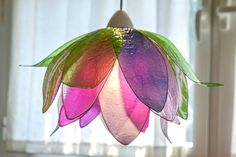 lampadario fiore loto armonia di colori chandelier di fiorediluce