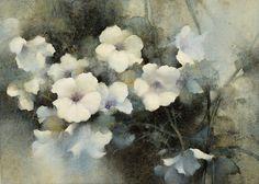 【白色戀曲/ White Concerto 】 Watercolor by Jasmine Huang 35cm x 26cm 2016