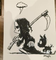 "1,446 To se mi líbí, 10 komentářů – Craig Bruyn (@craig_bruyn) na Instagramu: ""This lil skellington and pup are part of a book project I'm currently working on. #herobone…"""