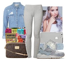 """""""Got My French Blue Jordans Today"""" by aribearie ❤ liked on Polyvore featuring Topshop, Case-Mate, GUESS, NIKE and adidas Originals"""