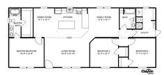 Interactive Floorplan The Appalachian | 34DOM28643AH | Oakwood Homes of Fletcher