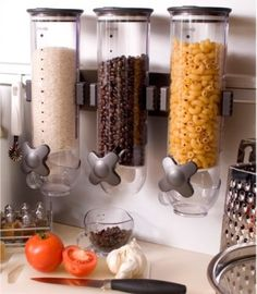 Brilliant way to store coffee beans, or noodle. No more boxes!!