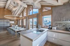Majestic views of Alps from the kitchen