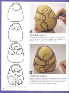 Super 80 Creative DIY Home Ideas with Pebbles and Rocks .- Super 80 creative DIY home designs with pebbles and boulders that are a great find for your stone collection - Pebble Painting, Pebble Art, Stone Painting, Pebble Stone, Painting Art, Paintings, Rock Painting Ideas Easy, Rock Painting Designs, Caillou Roche