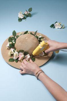 DIY floral sun hat