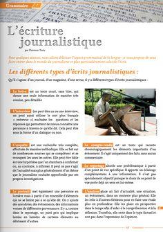l'écriture journalistique
